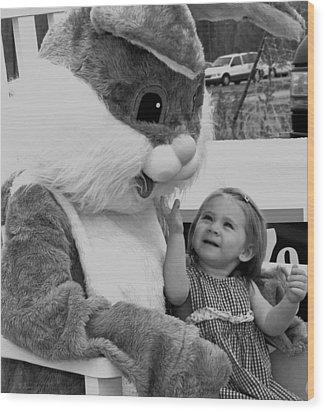 Megan  And Bugs Bunny Wood Print
