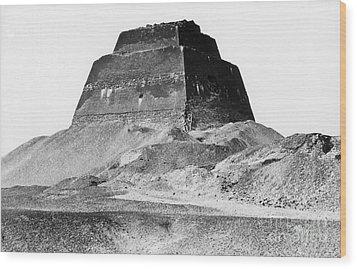 Meidum Pyramid, 1879 Wood Print by Science Source