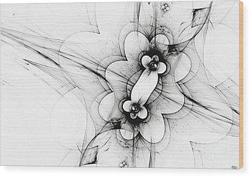 Wood Print featuring the digital art Meiosis by Arlene Sundby