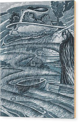 Melancholia Wood Print