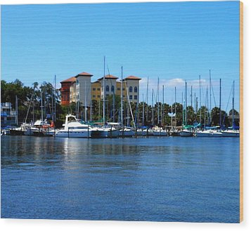 Melbourne Harbor Wood Print by Kay Gilley