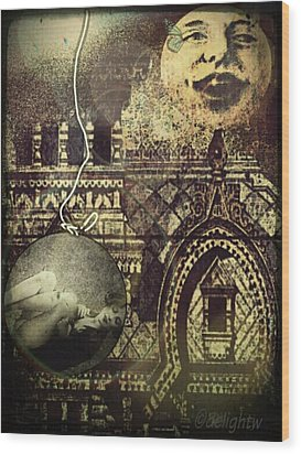 Melies Man In The Moon Wood Print