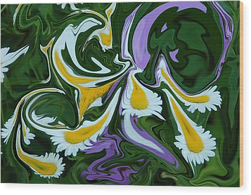 Wood Print featuring the photograph Melting Daisies by Aimee L Maher Photography and Art Visit ALMGallerydotcom
