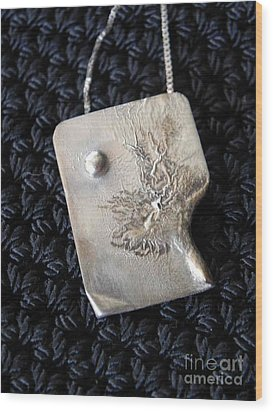 Melting Silver Wood Print by Patricia  Tierney