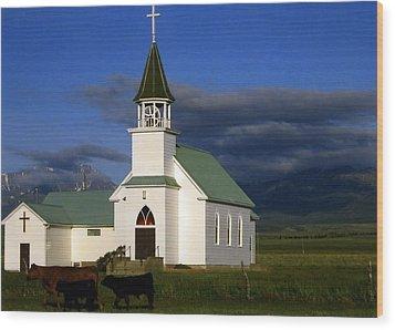 Melville Montana  Wood Print