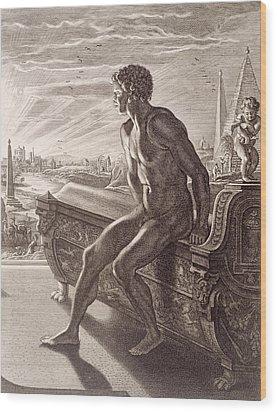 Memnon's Statue Wood Print by Bernard Picart