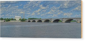 Memorial Bridge After The Storm Wood Print by Metro DC Photography