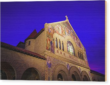 Memorial Church Stanford University Wood Print by Scott McGuire