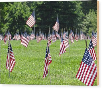 Wood Print featuring the photograph Memorial Day by Ed Weidman