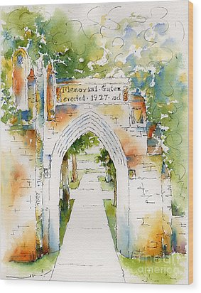 Memorial Gates Wood Print by Pat Katz