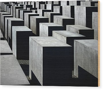 Memorial To The Murdered Jews Of Europe Wood Print by RicardMN Photography