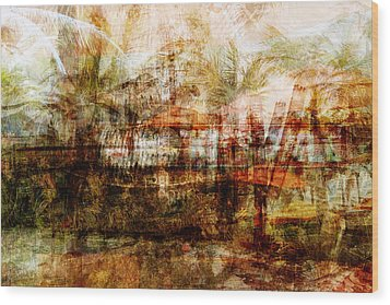 Wood Print featuring the mixed media Memories #1 by Sandy MacGowan
