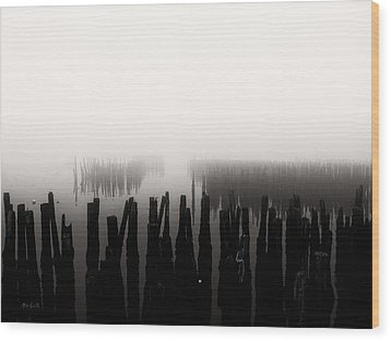 Memories And Fog Wood Print by Bob Orsillo