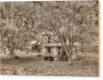 Memories Behind The Trees Wood Print by Dan Friend