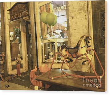 Wood Print featuring the photograph Memories For Sale by Geri Glavis