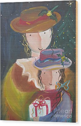 Wood Print featuring the painting Memories by Nereida Rodriguez