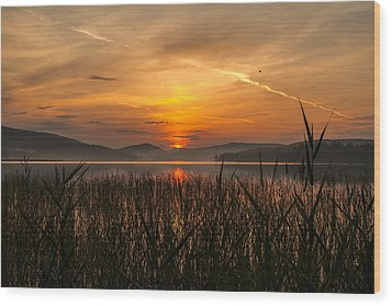 Memories Of A Sunset Wood Print by Rose-Maries Pictures