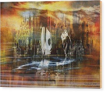 Memories Of Atlantis Wood Print