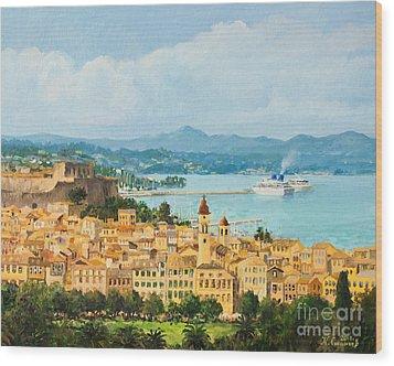 Memories Of Corfu Wood Print by Kiril Stanchev