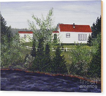 Memories Of Home  Wood Print by Barbara Griffin