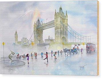 Memories Of London Bridge England Wood Print by John YATO
