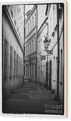 Memories Of Prague Wood Print by John Rizzuto