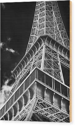 Memories Of The Eiffel Tower Wood Print by John Rizzuto