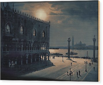 Wood Print featuring the painting Memories Of Venice No 2 by Douglas MooreZart
