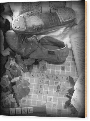 Memories Of Virginia Rose Wood Print by Karen Wiles