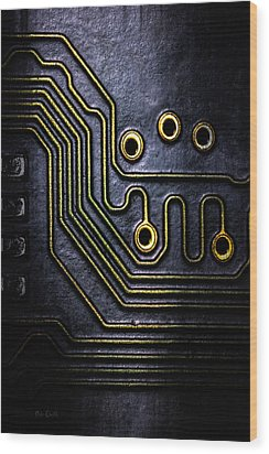 Memory Chip Number Two Wood Print by Bob Orsillo