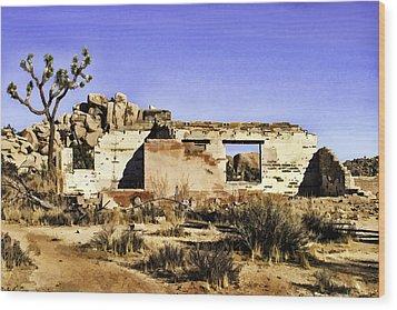 Wood Print featuring the painting Memory by Muhie Kanawati