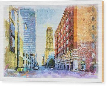 Memphis City Street Wood Print by Barry Jones