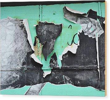 Memphis Found Art Green Good On Ya Wood Print by Steve Archbold