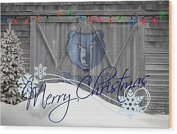 Memphis Grizzlies Wood Print by Joe Hamilton