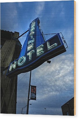 Memphis - Lorraine Motel 002 Wood Print by Lance Vaughn