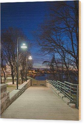 Memphis Riverfront Wood Print