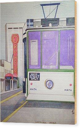 Memphis Trolley Wood Print by Loretta Nash