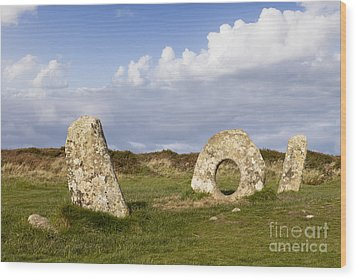 Men-an-tol Cornwall Wood Print by Colin and Linda McKie