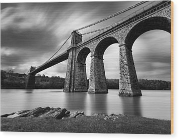 Menai Suspension Bridge Wood Print