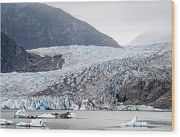 Mendenhall Glacier 1 Wood Print by Wayne Meyer