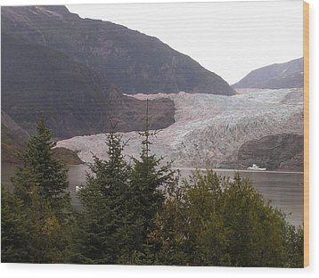 Mendenhall Glacier From The Path. Wood Print