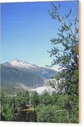 Wood Print featuring the photograph Mendenhall Glacier by Jennifer Wheatley Wolf