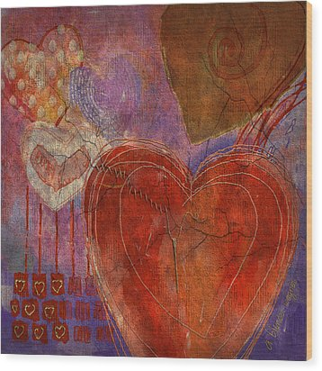 Wood Print featuring the digital art Mending A Broken Heart by Arline Wagner