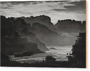 Mendocino Coastline Wood Print