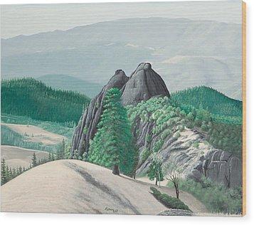 Mendocino Knockers Wood Print