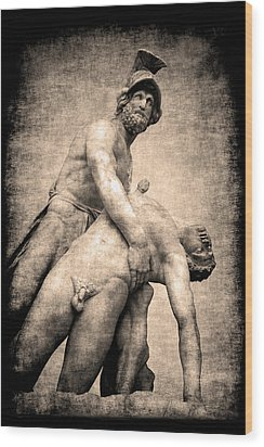 Menelaus And Patroclus In Florence Wood Print