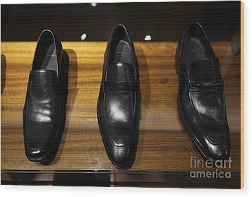 Men's Shoes - 5d20646 Wood Print by Wingsdomain Art and Photography