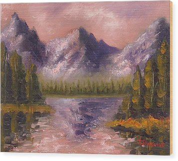 Wood Print featuring the painting Mental Mountain by Jason Williamson