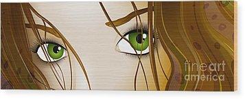 Meow Wood Print by Sandra Hoefer
