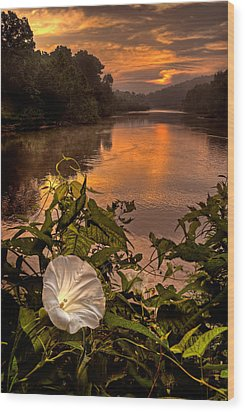 Meramec River At Chouteau Claim Wood Print by Robert Charity